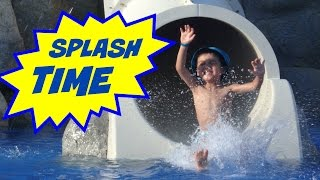 Hola amigos! Waterpark fun fun fun! The kids waste no time in heading over to one of the most fun waterparks you can find on a resort. SuperKid C & E have a ...