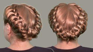 прически с косами видео уроки