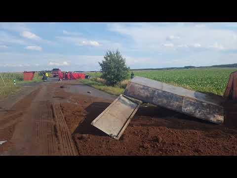 Wideo1: Wypadek na drodze Lipie - Szelejewo