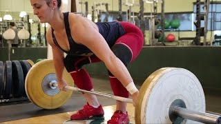 Mary Peck's Weightlifting Clinic: https://clients.mindbodyonline.com/classic/ws?studioid=14749&stype=-8&sTG=32&sView=day&sLoc=0&date=04/22/17In this video I follow Mary Peck (63kg weightlifter) as she prepares for Nationals 2017. I sit down and talk with her coach, Tom DiStasio, about Mary's training. He talks about the importance of strength in the sport of Olympic Weightlifting, why he coaches the low bar squat, the deadlift, and the bench press into her program routine. Follow Mary on IG @mmarypeckClinic: https://clients.mindbodyonline.com/classic/ws?studioid=14749&stype=-8&sTG=32&sView=day&sLoc=0&date=04/22/17