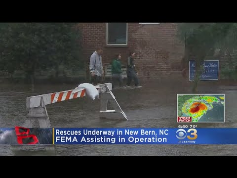 Hurricane Florence Swamps Historic Town Of New Bern, North Carolina