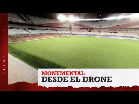 [Desde el drone] Mirá cómo está quedando el nuevo Monumental