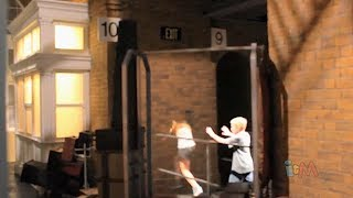 Platform 9 3/4 wall effect for Hogwarts Express, Wizarding World of Harry Potter, Universal Orlando