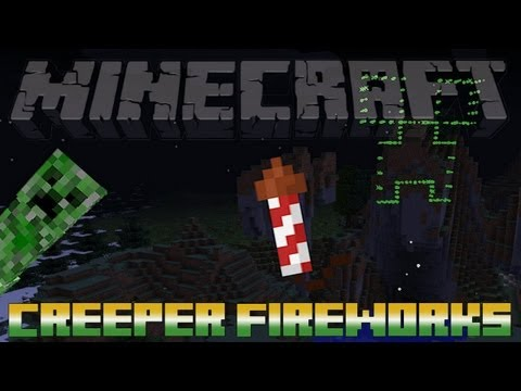 Minecraft - Creeper Shaped Fireworks