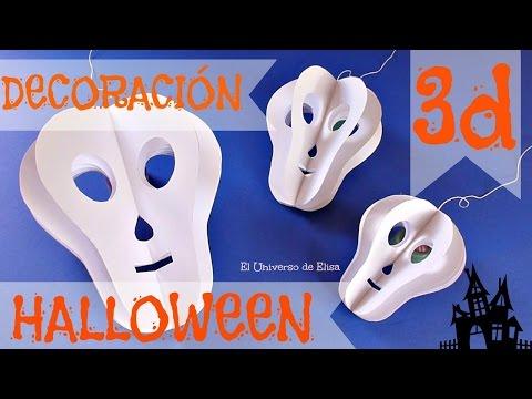 Decoración para Halloween/Día de los Muertos, Calavera 3D, Paper Skull, Halloween Decoration