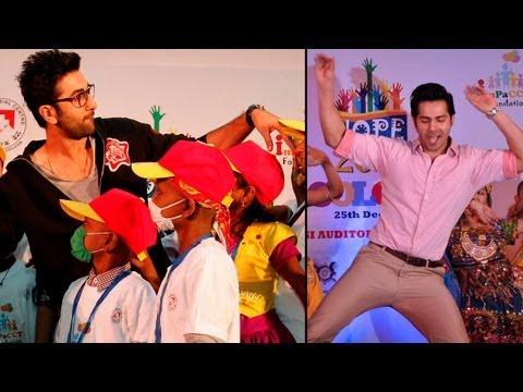 Ranbir Kapoor, Varun Dhawan Dance With Children