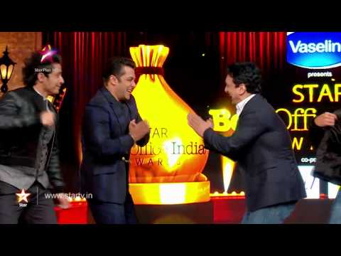 to the stage - First time ever, Bollywood superstars Amitabh Bachchan, Shahrukh Khan and Salman Khan will share the stage. Make sure you tune in to 'STAR Box Office India Awards' on 19th October, Sunday...