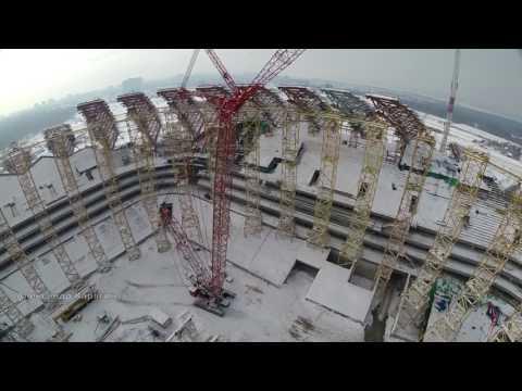 Строительство стадиона вСамаре. Февраль 2017