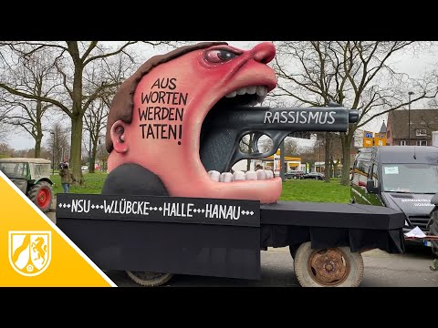 Rosenmontagszug in Düsseldorf: Das sind die Mottowage ...
