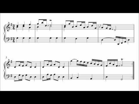 Polonaise f Major Bach Hasse Polonaise in g Major