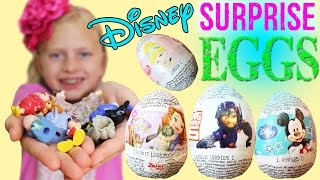 A super nice fan from Singapore sent a pack of Disney surprise eggs for each of the kids! The toys inside were really nice ones!! Thanks for watching!