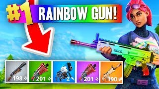 The RAINBOW GUN Challenge! (Fortnite Battle Royale)