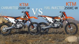 10. Fuel Injected 2 stroke VS Carbureted 2 Stroke KTM 250 XC-W - Dirt Bike Magazine
