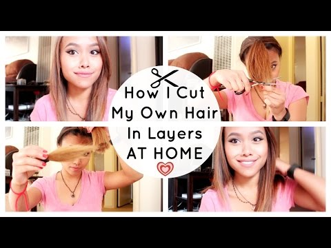 How I Cut My Own Hair in Layers