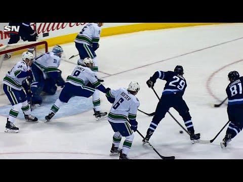 Video: Blake Wheeler puts on breaks, finds Patrik Laine who scores 21st