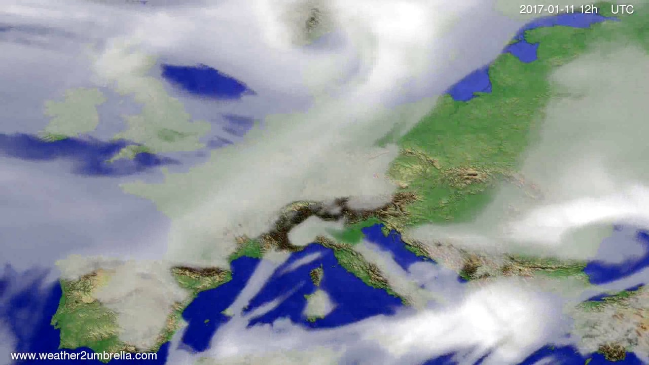 Cloud forecast Europe 2017-01-09