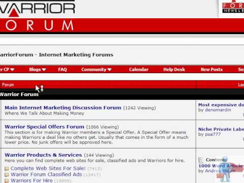 How to Make money With Warrior Forum Video 2