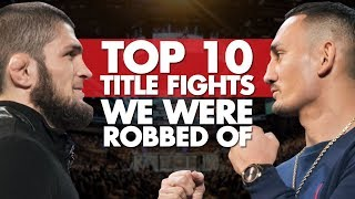 Video Top 10 Title Fights We Were Robbed Of MP3, 3GP, MP4, WEBM, AVI, FLV Oktober 2018