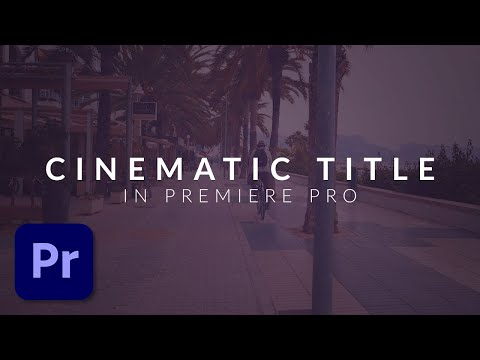 How To Create a Clean Cinematic Title Animation in Premiere Pro (Tutorial) (видео)