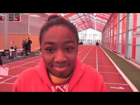 Interview met Edikan, Haag Atletiek Speerwerp Talent C-Junioren op Olympus 70 Indoor 26-01-2014 (видео)