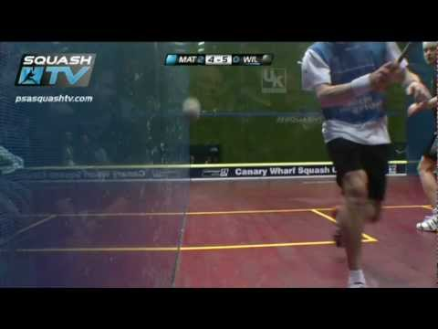 Squash : James Wilstrop v Nick Matthew : Canary Wharf Squash Classic 2012 Final Roundup