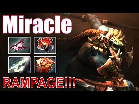 Miracle - Huskar | Safelane | Rampage | Dota 2 gameplay 2017