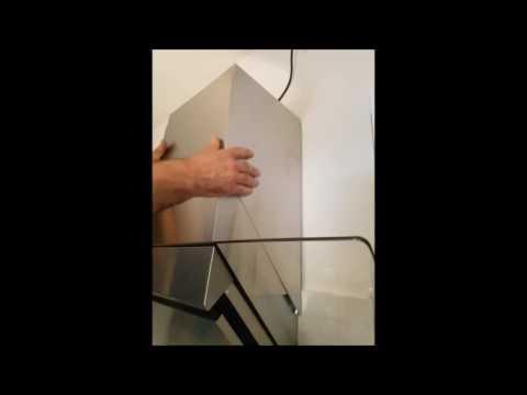 Klarstein Zola Cappa Aspirante Cucina Acciaio Inox e vetro