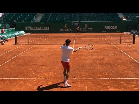 Novak Djokovic practice @ Rolex Monte-Carlo Masters 2019 (bonus play with kids) - HD