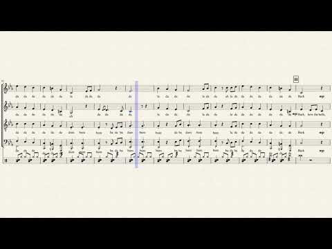 Carol of the Bells - Pentatonix (Full Sheet Music w/ Lyrics)