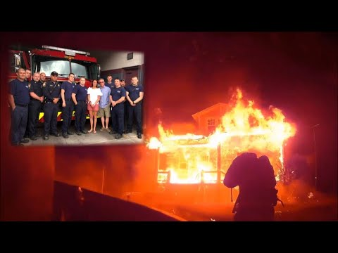 Watch as Firefighters Rescue Man from Burning Home