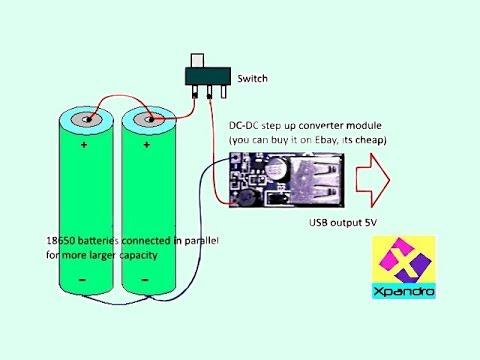 Power bank 18650 схема