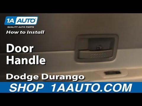 How To Install Replace Rear Door Handle Dodge Durango 04-09 1AAuto.com