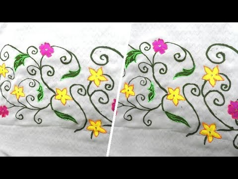 Fabric Painting On Saree with Fevicryl Neon Liners