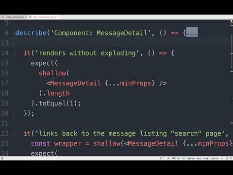 Using AirBnb's Enzyme to Test React Components