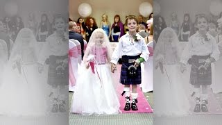 Eileidh Paterson, 5, married her best friend, Harrison, in a ceremony fit for a princess. They were pals before the event but now it's...
