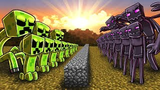 Minecraft Massive Mob Battles is a new challenge series where we put various mobs in a battle and see who is last man standing. Watch as these large minecraft monster armies clash in an all out war! In this episode Cody puts 500 creeper Soldiers against 500 Enderman soldiers! Comment who you think will be victorious in this epic battle!▬► MOB BATTLE PLAYLIST: https://www.youtube.com/watch?v=L7RUO8wNHuE&list=PLMB8MGbYATTiKJaJKKx_AQYaBfMzF-ipq► Minecraft T-Shirts: http://voidcollection.com●  Minecraft Modpacks: http://voidswrath.com/●  Mod Download: ▬▬▬▬▬▬▼My Stuff▼▬▬▬▬▬▬● Roblox Channel: https://www.youtube.com/channel/UCaQkoFF-Vkr3RTfov6ymT8g● Gaming Channel: https://www.youtube.com/user/TheAtlanticArcade● Game Studio: http://voidswrath.com/● Clothing Line: http://voidcollection.com▬▬▬▬▬▬▼Social Media▼▬▬▬▬▬▬Atlantic Craft Twitter: https://twitter.com/AtlanticCraftCody's: Instagram: https://www.instagram.com/atlanticcraft/Fan Discord: https://discord.gg/yhFEtnH▬▬▬▬▬▬▼Realm of Atlantis▼▬▬▬▬▬▬● Professor Pikalus Youtube: https://www.youtube.com/channel/UClw5UTugvHO-VL7n-IaxaTA● Sneaky Sisters Youtube: https://www.youtube.com/channel/UCp9AkWp4jfrEyZKhOTo5rbA● Kraken Kid Youtube: https://www.youtube.com/channel/UCcoXbmaUfns8Kx4E5YbwIZA● Cannibal Crab Youtube: https://www.youtube.com/channel/UCuPfkZuwz7kyNjCV5Uwk3ow● Captain Deadlock Youtube: https://www.youtube.com/channel/UC4BuRUwk1tGDQ7lrrloucDQ● Baby Blooper Youtube: https://www.youtube.com/channel/UCy2TySx_6AaPvzMRwYMvHxw● Joebuz Youtube: https://www.youtube.com/channel/UC1Mb3iBuQtAIX2pfh2F-0tgWhat is Minecraft? Minecraft is an online virtual playground and workshop, where kids of all ages can safely interact, create, have fun, and learn. It's unique in that practically everything on Minecraft is designed and constructed by members of the community. Minecraft is designed for 8 to 18 year old, but it is open to people of all ages. Each player starts by choosing an avatar and giving it an identity. They can then explor