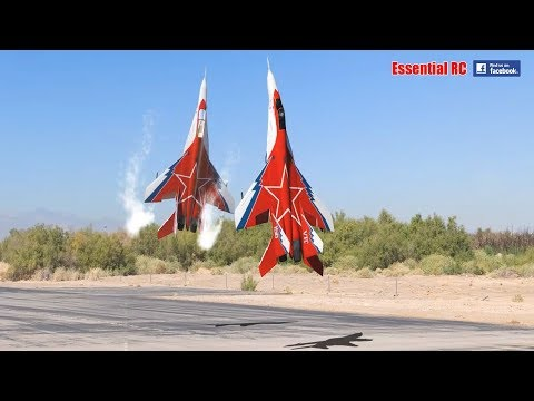 Download FANTASTIC Russian Mikoyan MiG-29 FORMATION PAIR/DUO with OVT VECTORED THRUST Demo