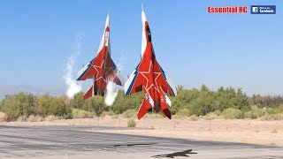 Video FANTASTIC Russian Mikoyan MiG-29 FORMATION PAIR/DUO with OVT VECTORED THRUST Demo MP3, 3GP, MP4, WEBM, AVI, FLV Juni 2019