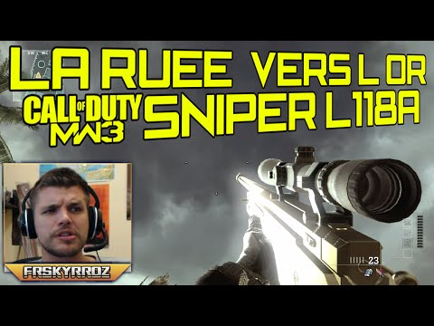 L118A - MW3 : La ruée vers l'or au L118A en Live #10. ○ COD AW Sniper Gameplay : http://youtu.be/bstkuGKa_Xk ○ Les armes, classes, atouts... sur COD AW : http://yout...