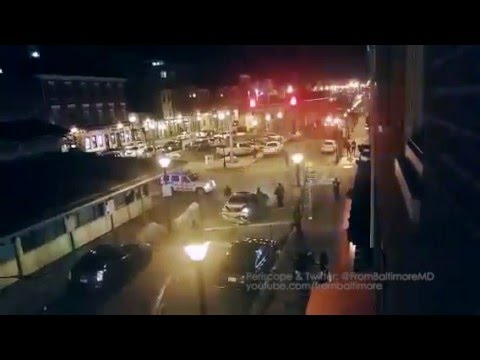 WATCH: CRAZY Fight And Car Crash In Fells Point Last Night