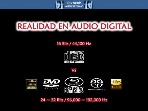 ::: REALIDAD EN AUDIO DIGITAL: 16 Bits/44,100 Hz VS 24~32 Bits/96,000~192,000 Hz :::