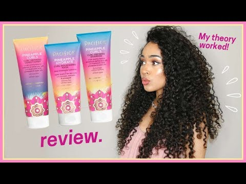 Curly hairstyles - PACIFICA PINEAPPLE CURLS REVIEW, VEGAN + CRUELTY FREE CURLY HAIR ROUTINE by Lana Summer