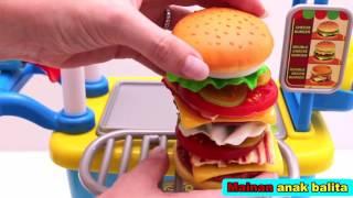 Video Mainan jualan dan memasak burger MP3, 3GP, MP4, WEBM, AVI, FLV September 2018