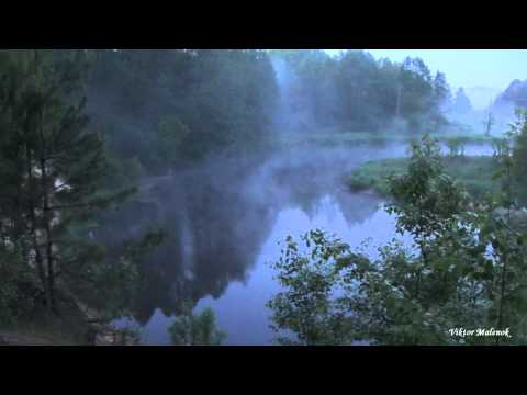 Рассвет. Река. Туман. Природа. Пение птиц. Релакс. Медитация. Утро.