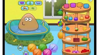 Jogos de meninas - Pou Baby Bathing - Jogos Online Grátis
