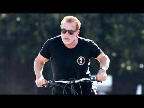 Arnold Schwarzenegger Forgets His Mask At Home Before Morning Bike Ride