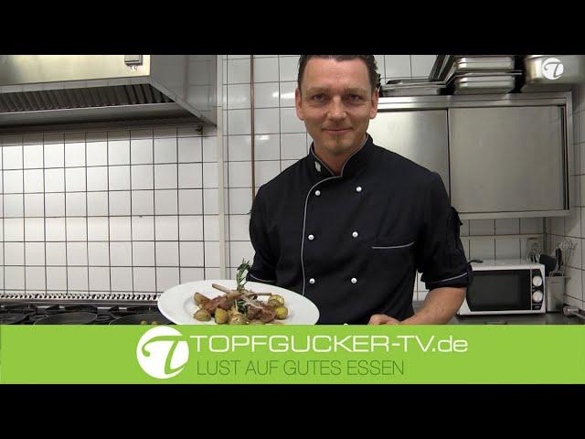 Lammkarree | Kräuterseitlingen | Babyblattspinat | Rosmarin Drillinge | Osterrezept | Topfgucker-TV