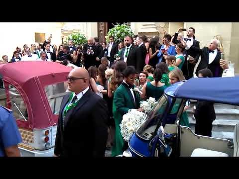 esclusivo: l'arrivo di romina e al bano insieme alla sposa cristel