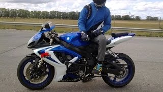 10. SUZUKI GSXR - 600!! TOP SPEED, Full Power,