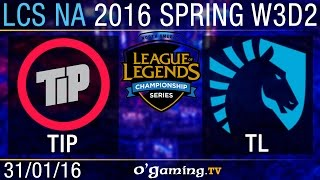 Liquid vs Team Impulse - LCS NA Spring Split 2016 - W3D2
